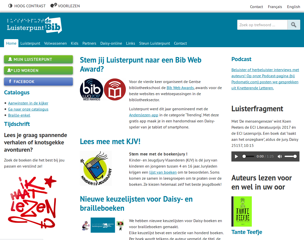 Homepage luisterpunt.be
